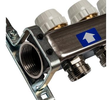 SMS-0932-000005 STOUT Коллектор из нержавеющей стали без расходомеров, с клапаном вып. воздуха и сливом 5 вых.3