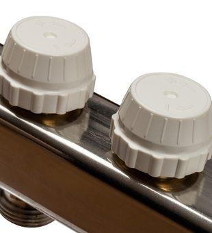 SMS-0932-000005 STOUT Коллектор из нержавеющей стали без расходомеров, с клапаном вып. воздуха и сливом 5 вых.5