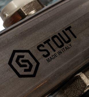 SMS-0932-000005 STOUT Коллектор из нержавеющей стали без расходомеров, с клапаном вып. воздуха и сливом 5 вых.7