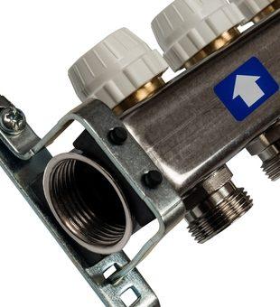 SMS-0932-000006 STOUT Коллектор из нержавеющей стали без расходомеров, с клапаном вып. воздуха и сливом 6 вых.2