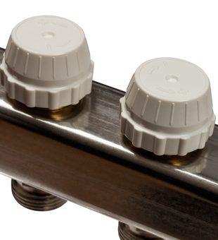 SMS-0932-000006 STOUT Коллектор из нержавеющей стали без расходомеров, с клапаном вып. воздуха и сливом 6 вых.4