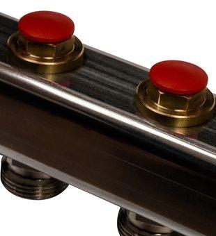 SMS-0932-000008 STOUT Коллектор из нержавеющей стали без расходомеров, с клапаном вып. воздуха и сливом 8 вых.
