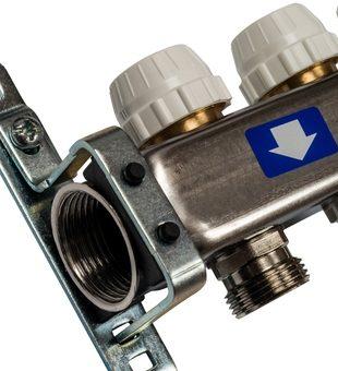 SMS-0932-000010 STOUT Коллектор из нержавеющей стали без расходомеров, с клапаном вып. воздуха и сливом 10 вых.3