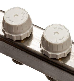 SMS-0932-000010 STOUT Коллектор из нержавеющей стали без расходомеров, с клапаном вып. воздуха и сливом 10 вых.5
