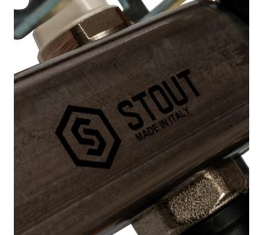 SMS-0932-000010 STOUT Коллектор из нержавеющей стали без расходомеров, с клапаном вып. воздуха и сливом 10 вых.8