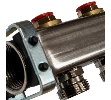 SMS-0932-000011 STOUT Коллектор из нержавеющей стали без расходомеров, с клапаном вып. воздуха и сливом 11 вых.2