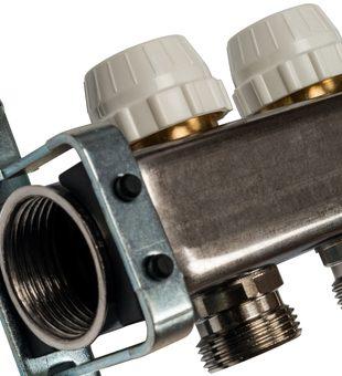 SMS-0932-000011 STOUT Коллектор из нержавеющей стали без расходомеров, с клапаном вып. воздуха и сливом 11 вых.4