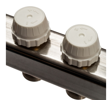 SMS-0932-000011 STOUT Коллектор из нержавеющей стали без расходомеров, с клапаном вып. воздуха и сливом 11 вых.6