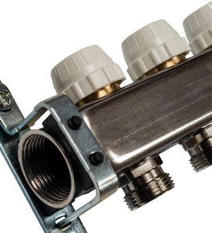 SMS-0932-000012 STOUT Коллектор из нержавеющей стали без расходомеров, с клапаном вып. воздуха и сливом 12 вых.3