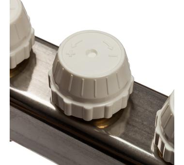 SMS-0932-000012 STOUT Коллектор из нержавеющей стали без расходомеров, с клапаном вып. воздуха и сливом 12 вых.5